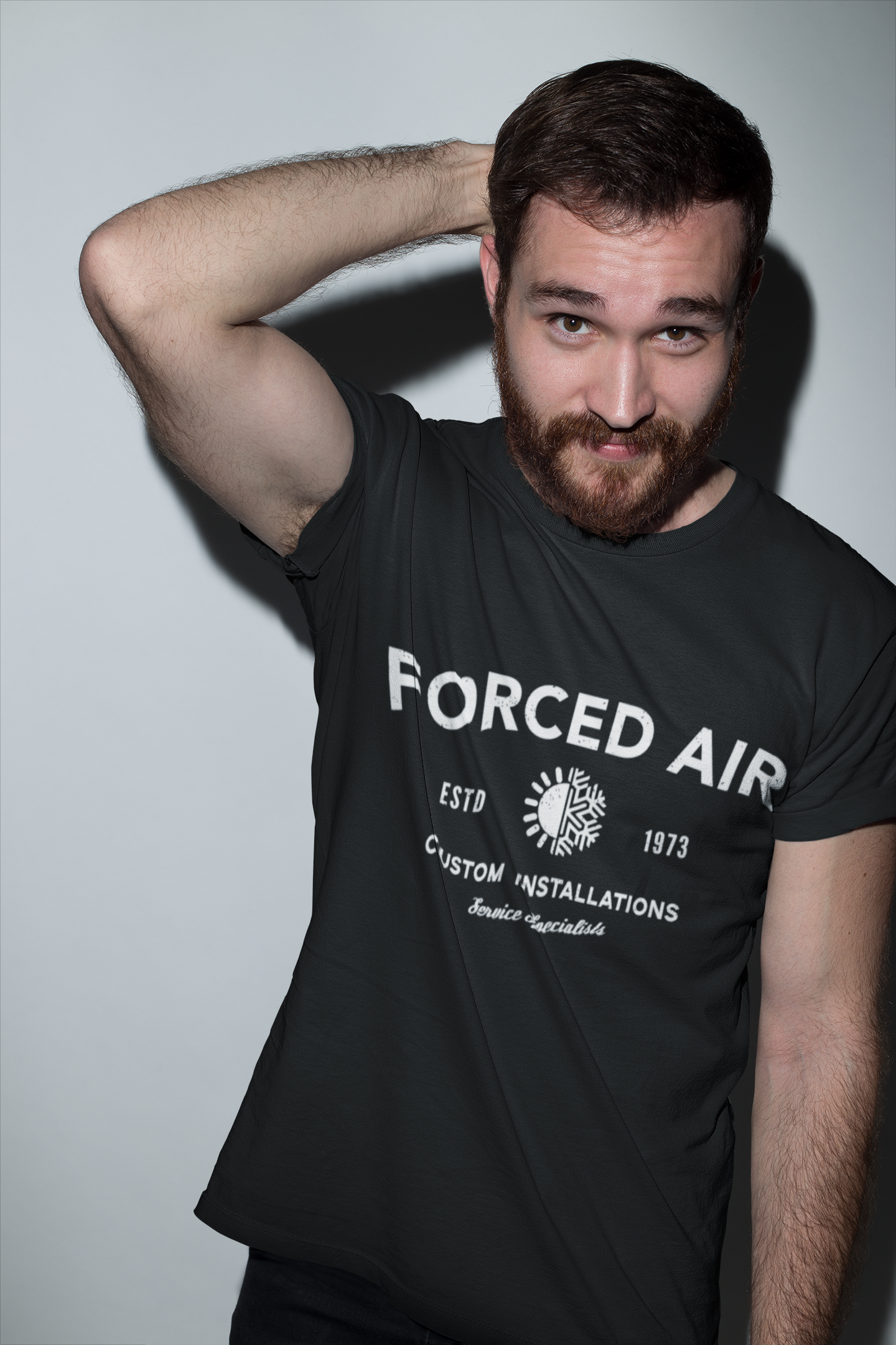 red-haired-man-wearing-a-tshirt-template-at-the-studio-a20683.png
