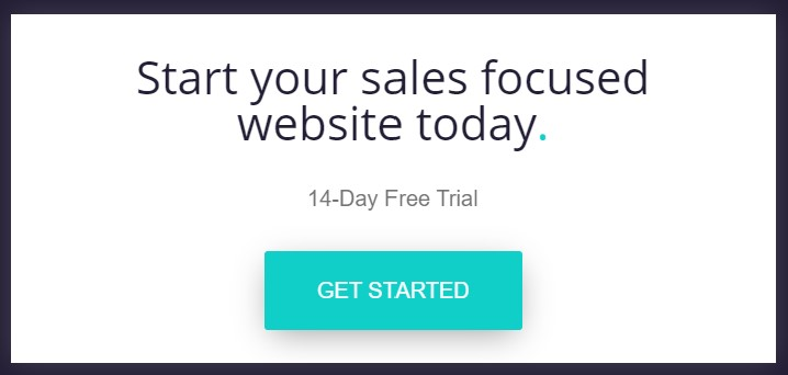 Check out the Get Started button. It clearly stands out here!