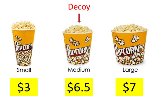 The ultimate decoy: Medium sized popcorn at movie theatres