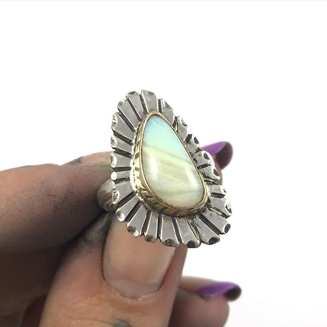 For Megan - to celebrate her new niece OPAL 💛 14k and sterling ✨ thanks for looking #goodluckhandmade