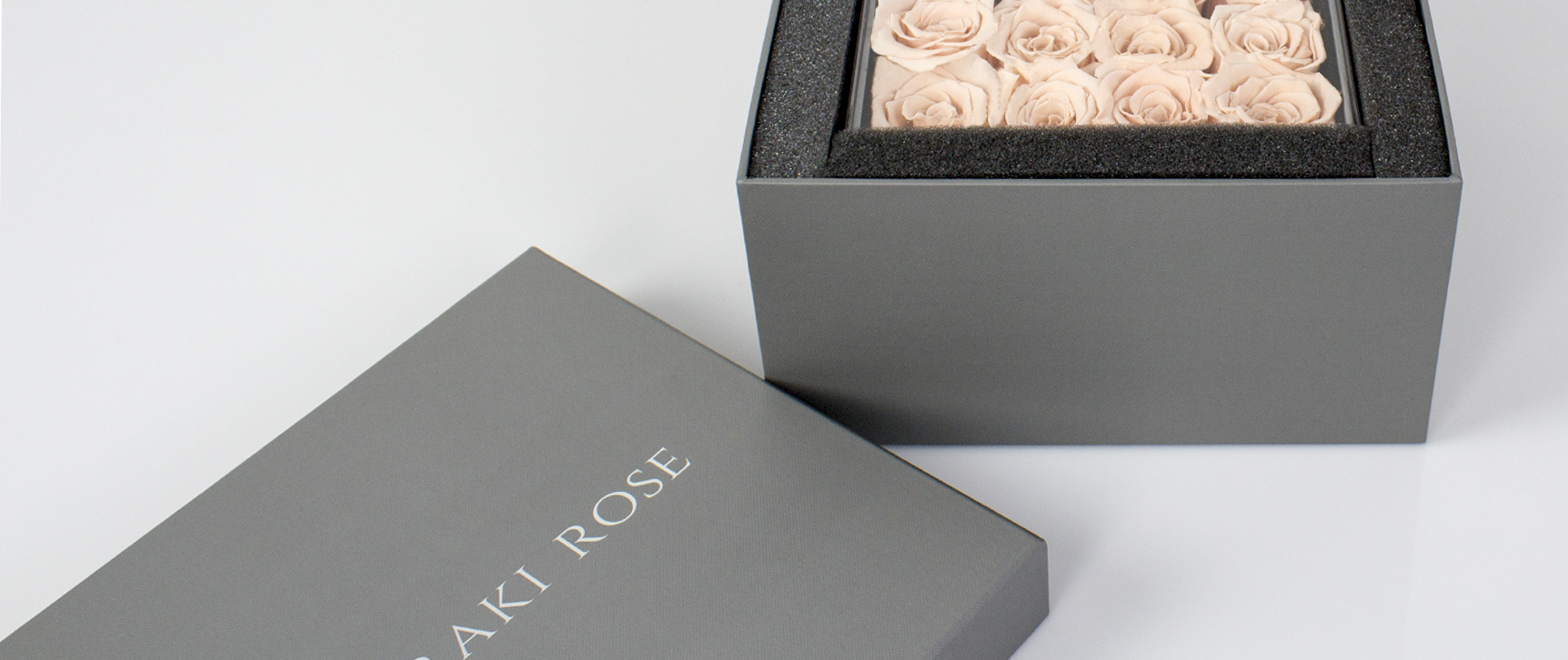 Not Your Ordinary Box - Our premium preserved roses deserve to be packaged in the best way, not just in any ordinary box. For a year, our team of experts paid attention to every detail to create a custom designed box. From the inner velvet lining, to the thickness and texture of the box, we made sure your roses sat perfectly in your package.