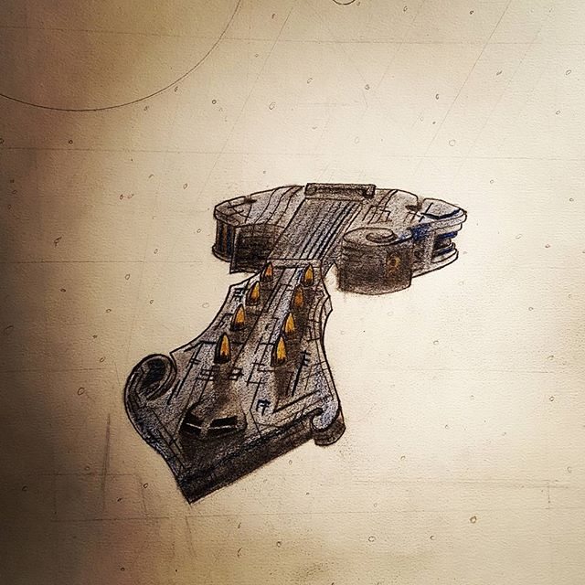 Mandolin space ship!  #graphite #coloredpencil #pencildrawing