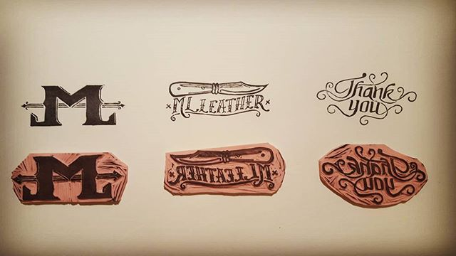 Just finished carving some stamps for my friends at ML Leather. All I have to do now is mount them. #stamps #customstamp #mlleather #maulemall #handmade