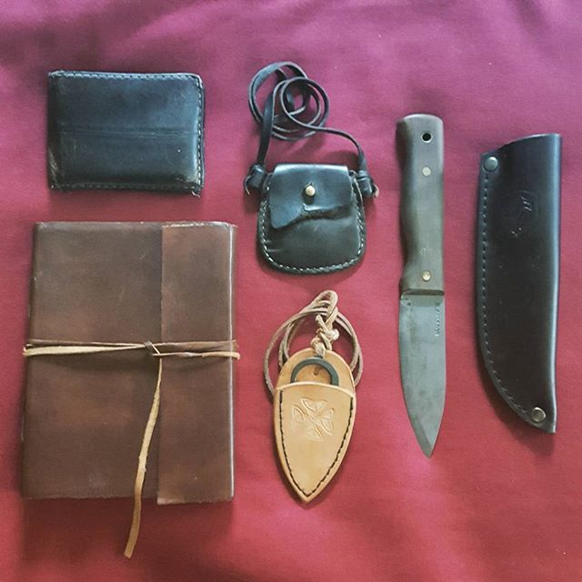 Gearing up for the day.  #leathergoods #leather #leatherisbetter #gearingup