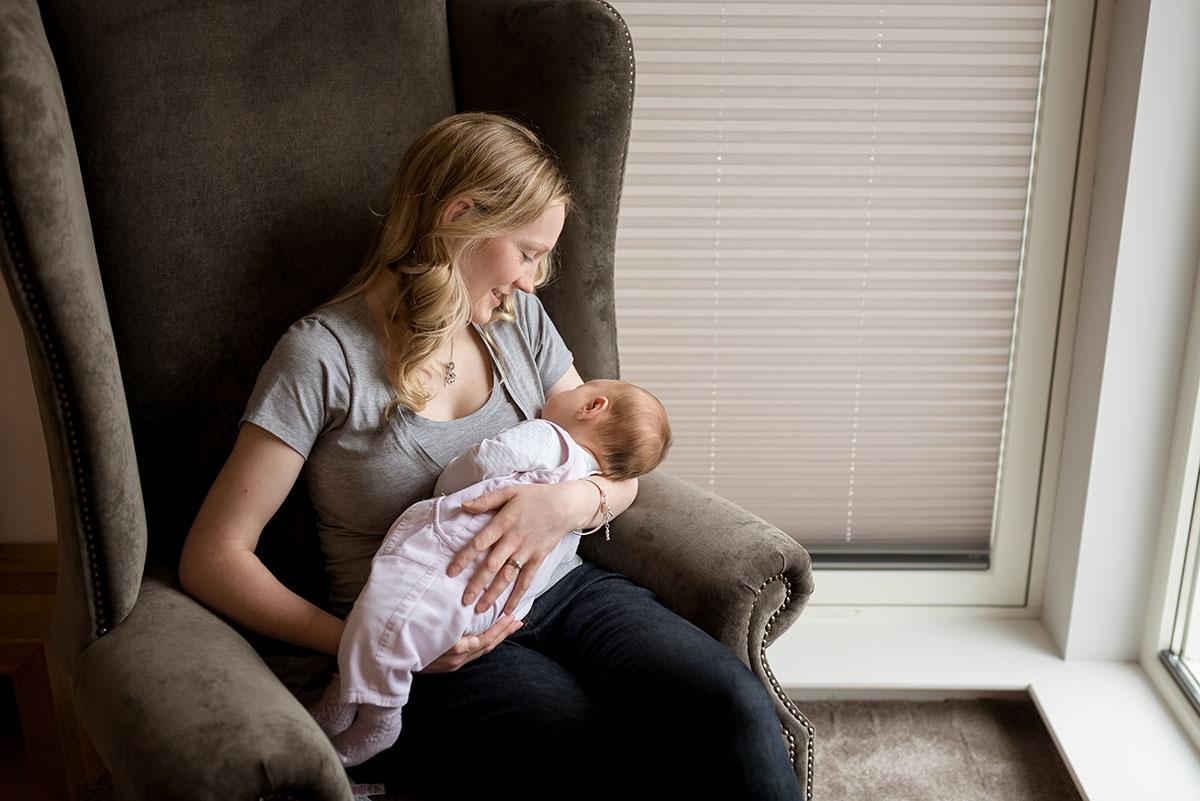 Mum with newborn baby