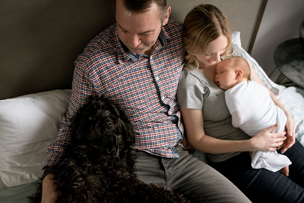 Family with a newborn