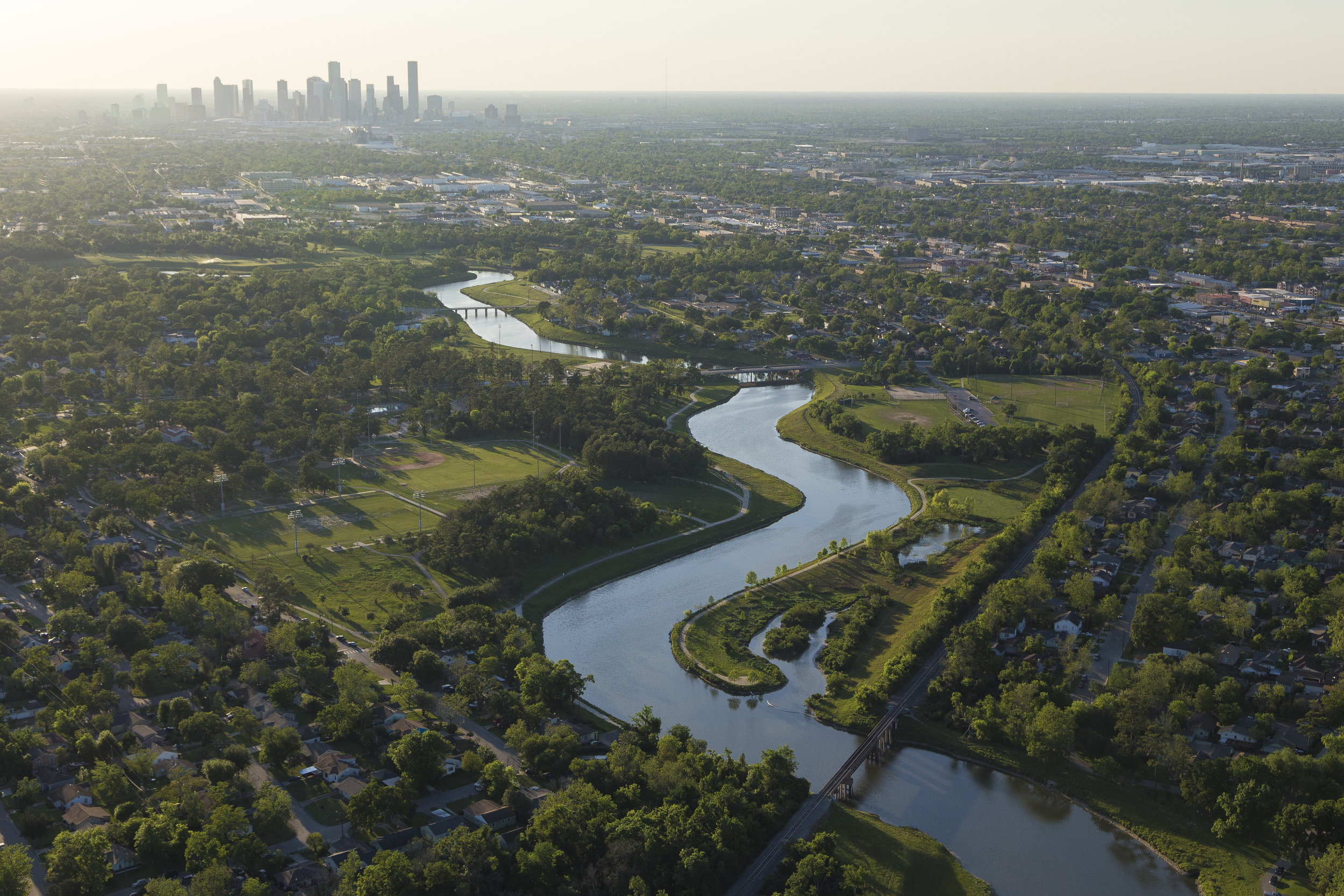 Brays Bayou. Photo courtesy of Houston Parks Board.
