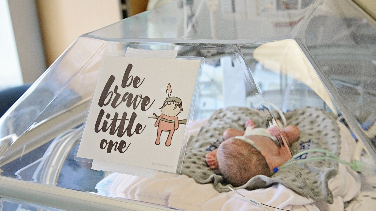 preemie isolette with crib art to decorate and personalize the nursery