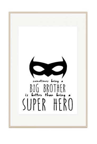 cool big brother print for preemie sibling care package