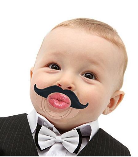 for fun, a preemie mustache pacifier