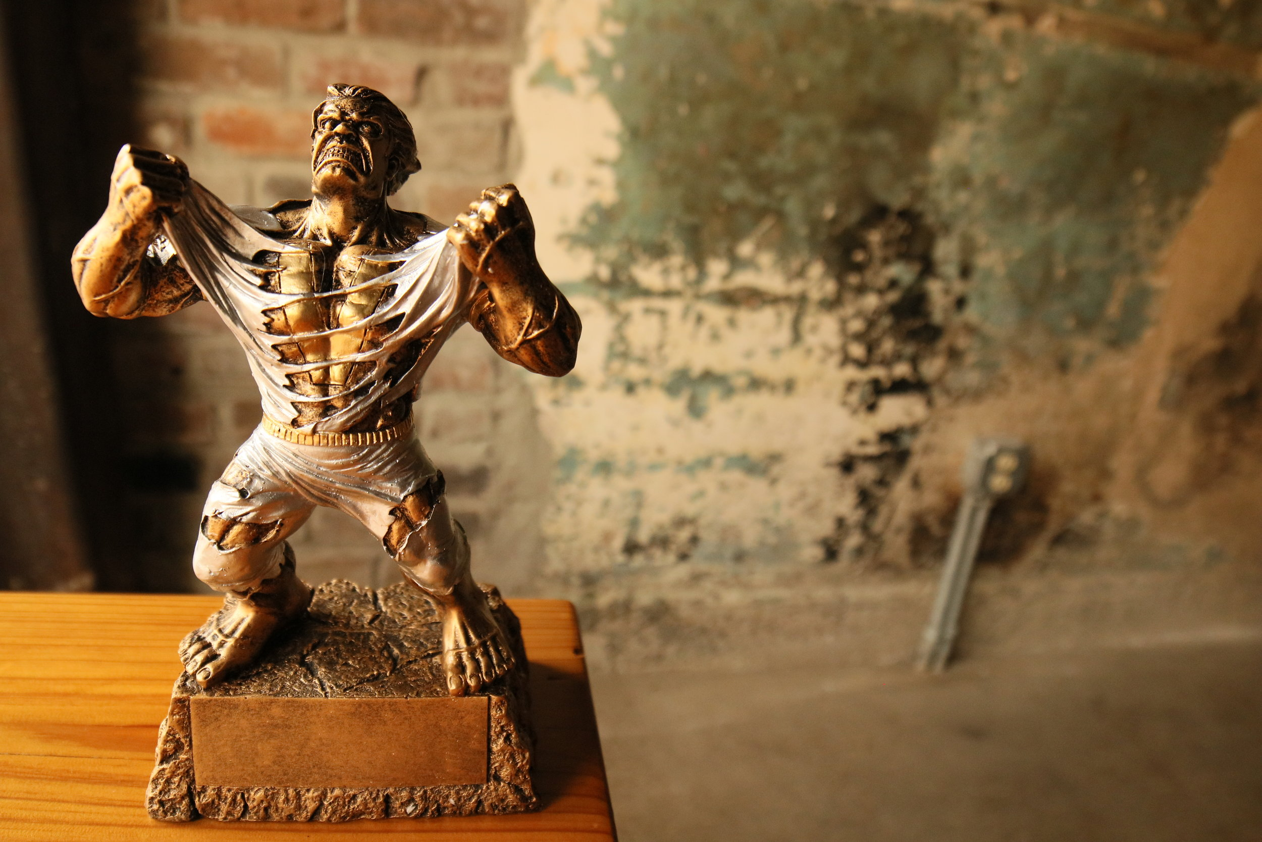 Our First Brew Competition Trophy. -
