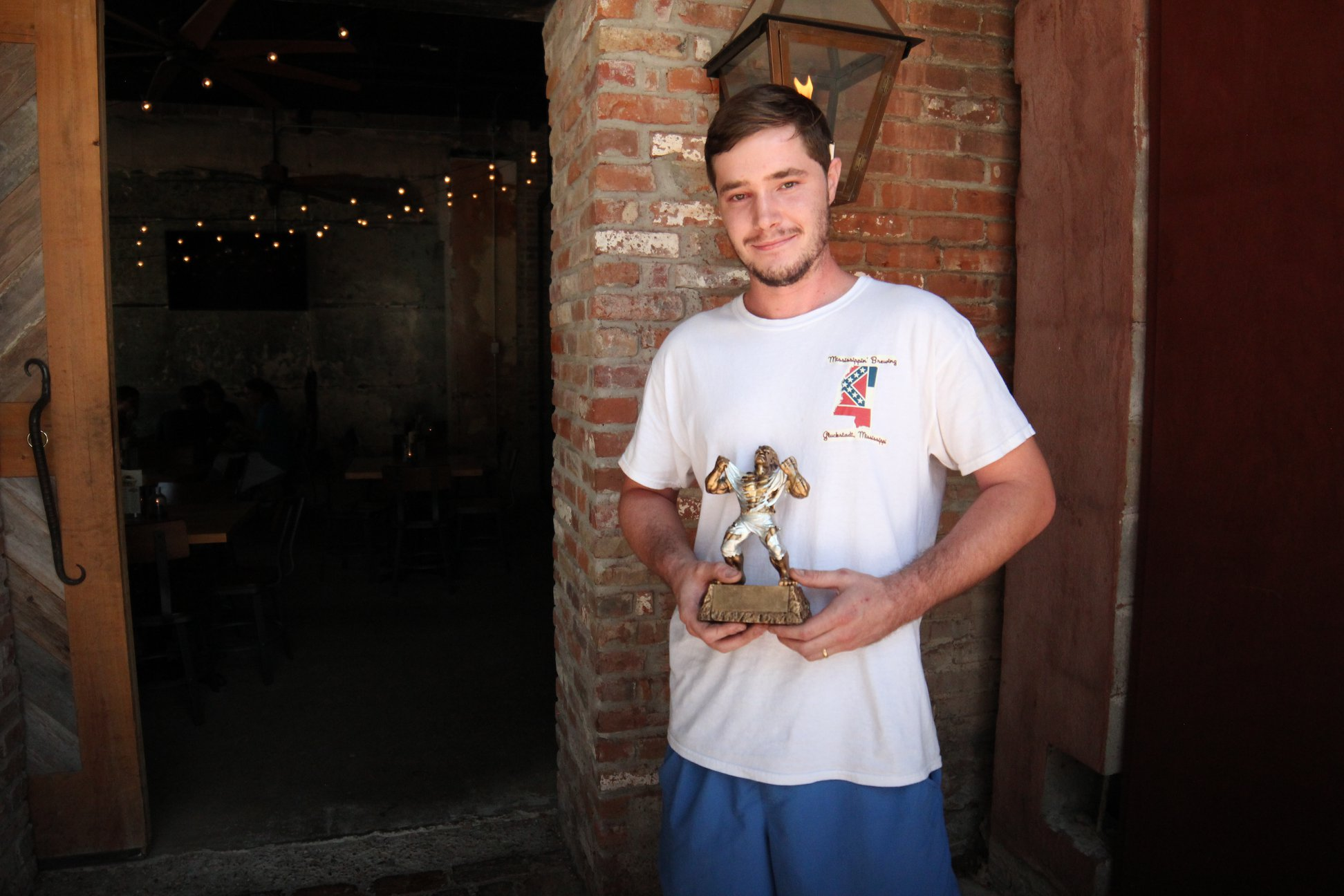 """CONGRATS TO OUR FIRST WINNER ...    Shelby Rayner and his Smash IPA """"Hoptimus Prime Did Have a Beard?"""""""