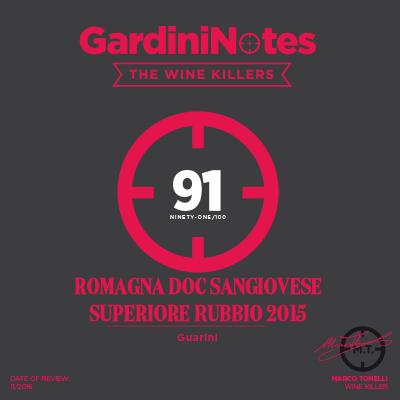 2015 - the Wine KillersLuca Gardini Notes review by Marco Tonelli. Sangiovese Superiore Rubbio.