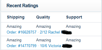 Ratings from my now defunct Storenvy shop.