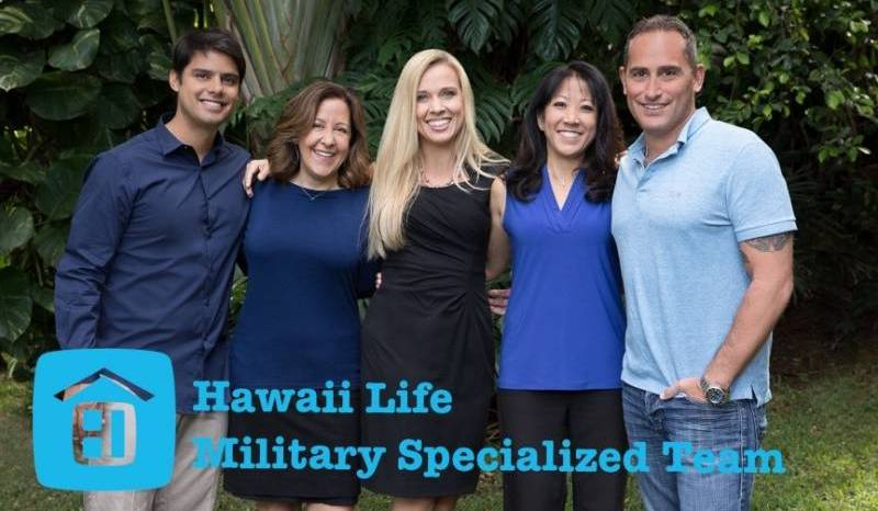 Hawai'i Life Military Specialized Team. From Left to Right: Joe Sillaman, Monica Schaefer, Kinga Mills, Cathy Possedi, David Lundstrom