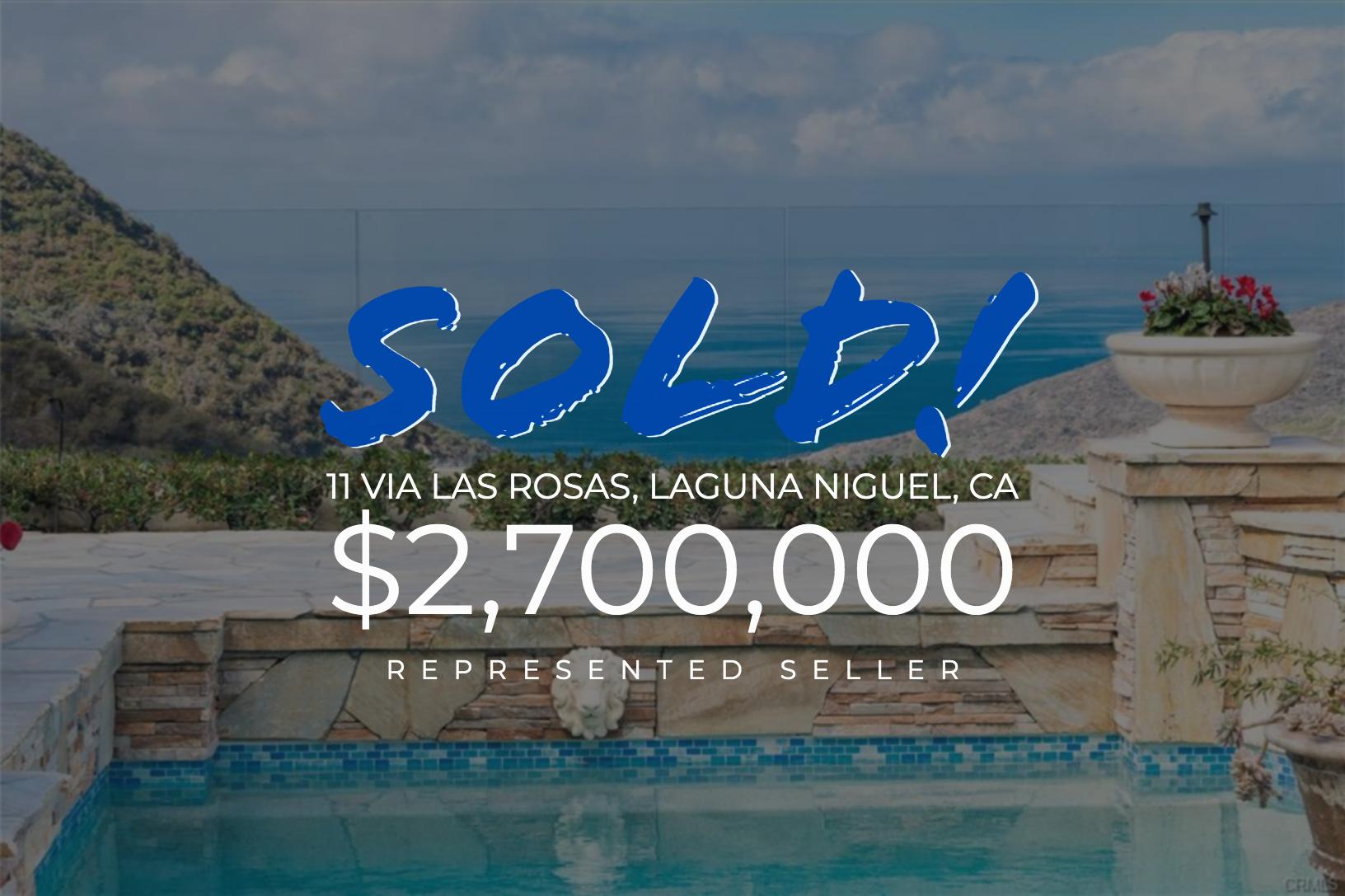 Sold With Matt Blashaw 11 Via Las Rosas in Laguna Niguel, CA