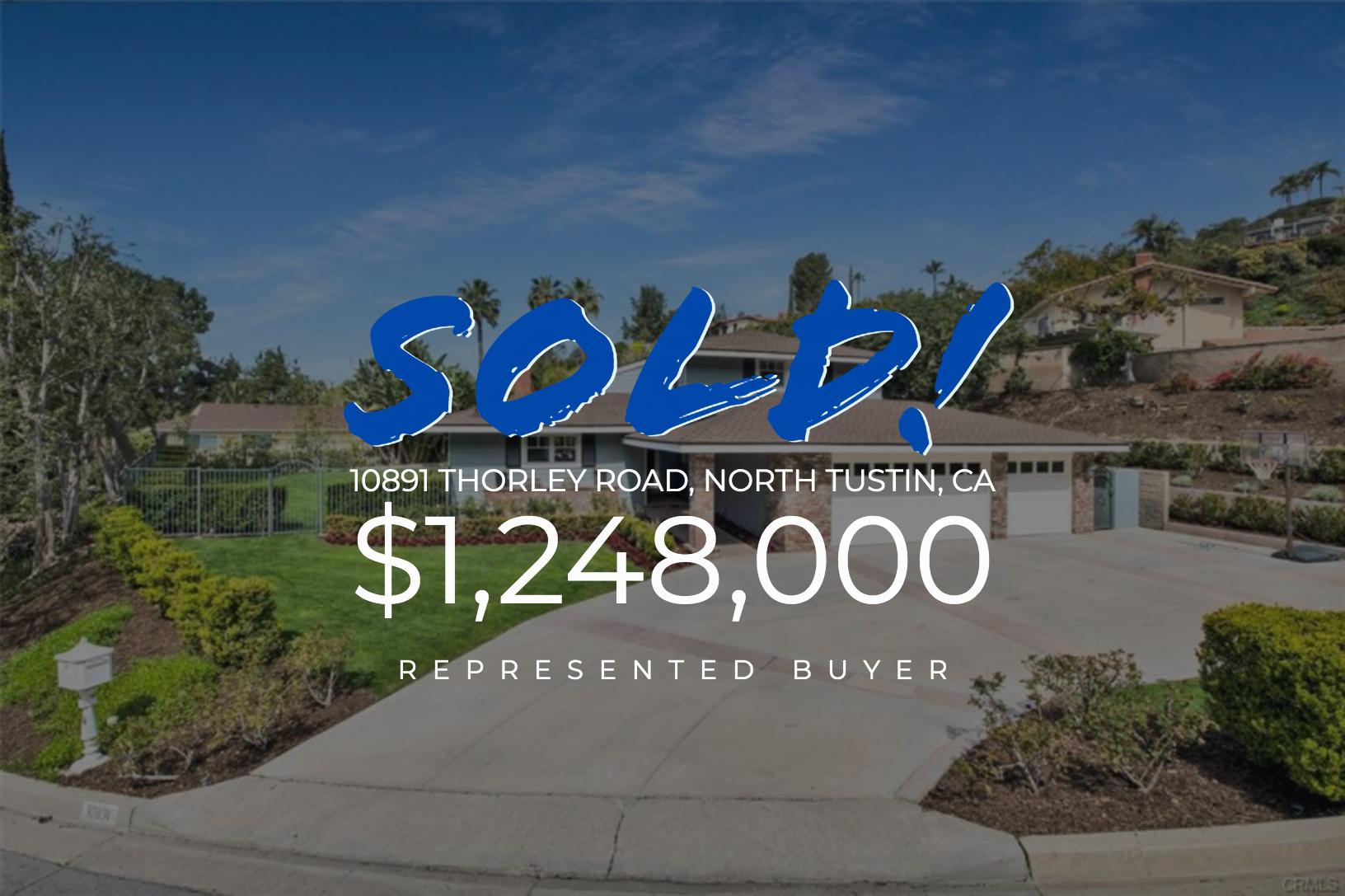 Sold With Matt Blashaw 10891 Thorley Road in North Tustin, CA