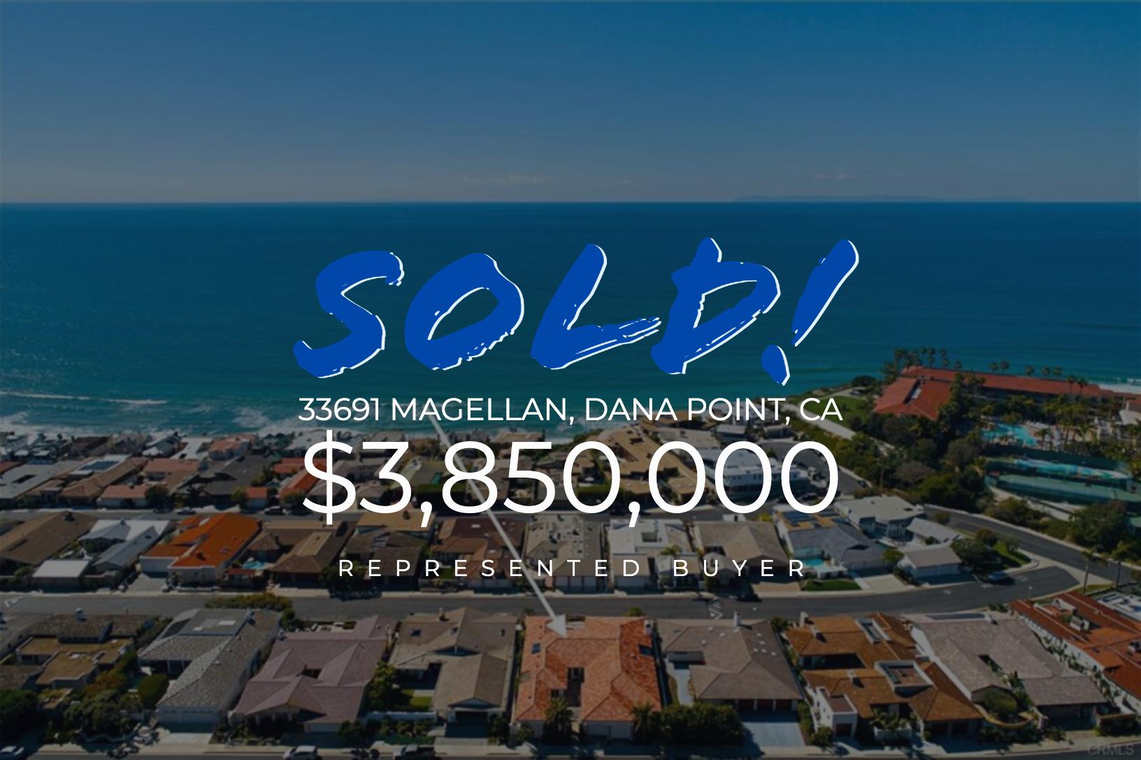 Sold With Matt Blashaw 33691 Magellan in Dana Point, CA