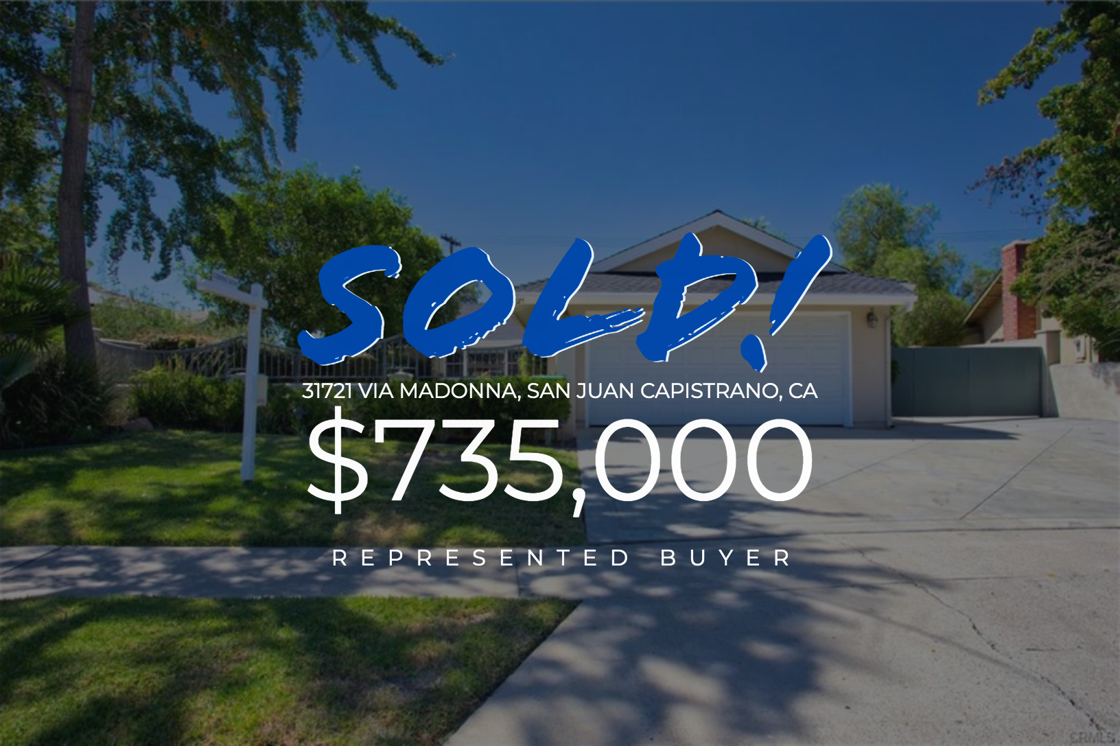 Sold With Matt Blashaw 31721 Via Madonna in San Juan Capistrano, CA