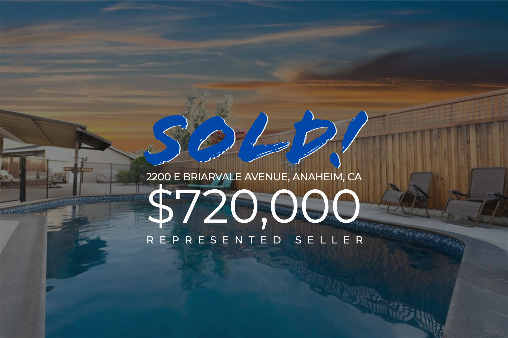 Sold With Matt Blashaw 2200 E Briarvale Avenue in Anaheim, CA