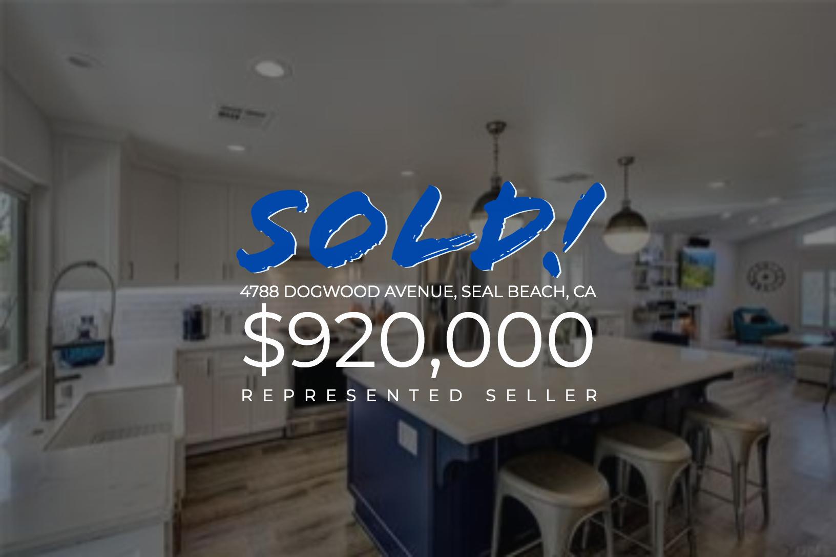 Sold With Matt Blashaw 4788 Dogwood Avenue in Seal Beach, CA