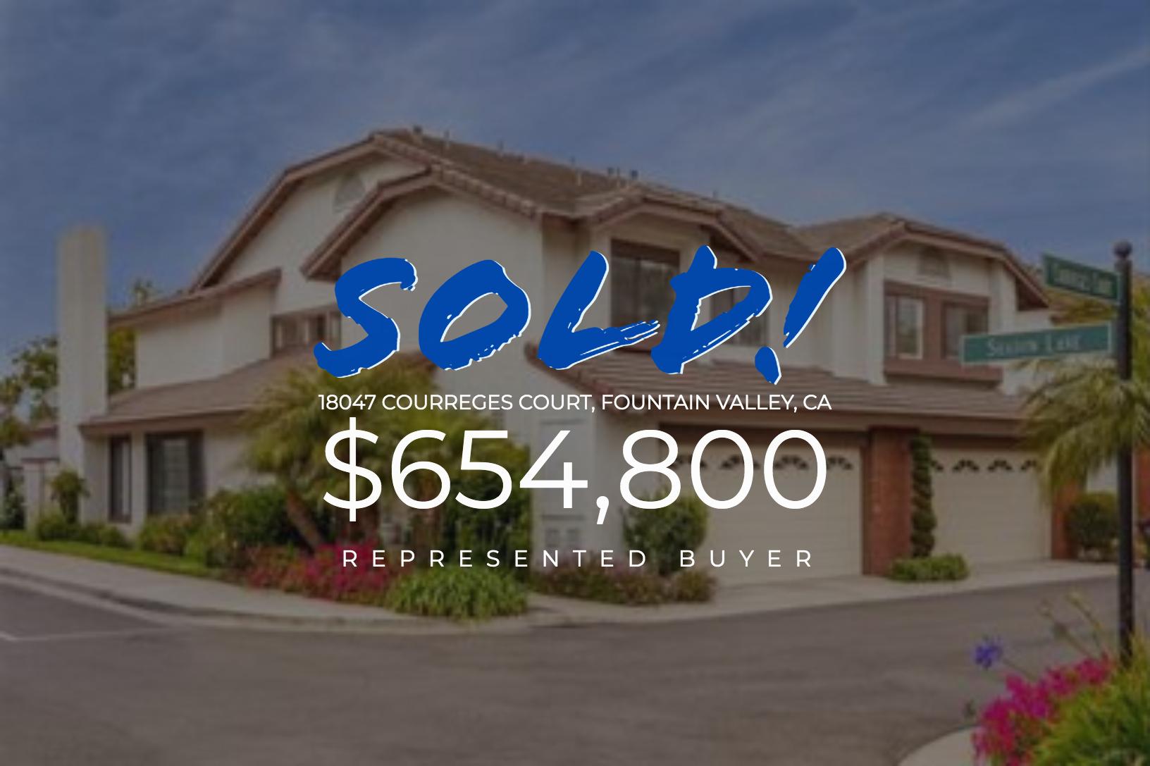 Sold With Matt Blashaw 180477\ Courreges Court in Fountain Valley, CA