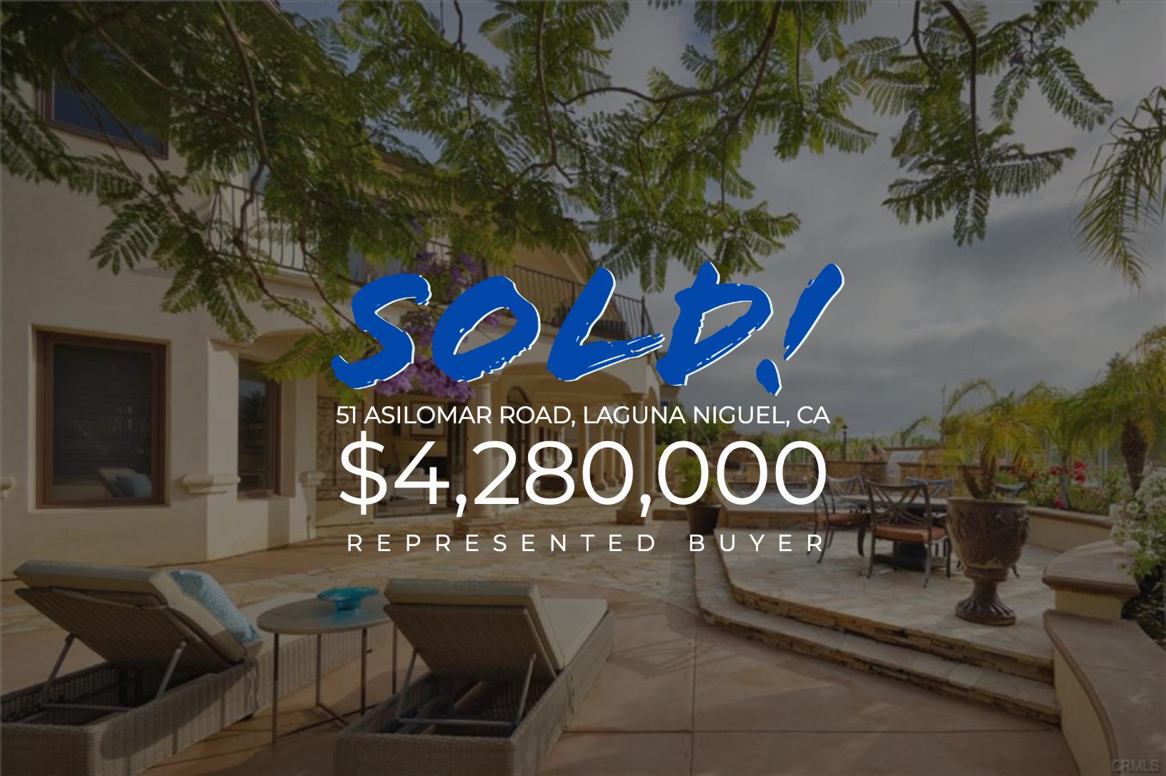Sold With Matt Blashaw 51 Asilomar Road in Laguna Niguel, CA