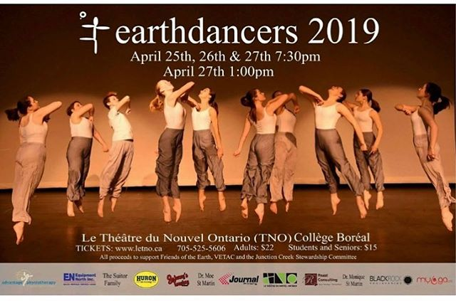 We're debuting a new poster this year! Keep your eyes peeled around Sudbury for the next few weeks, let us know if you see one! #earthdancers2019