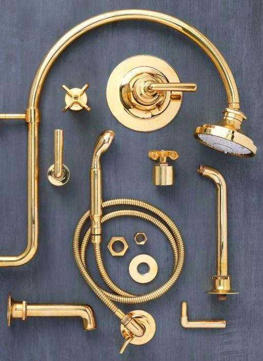 Unlacquered Brass, Unlacquered Brass Bathroom Faucet