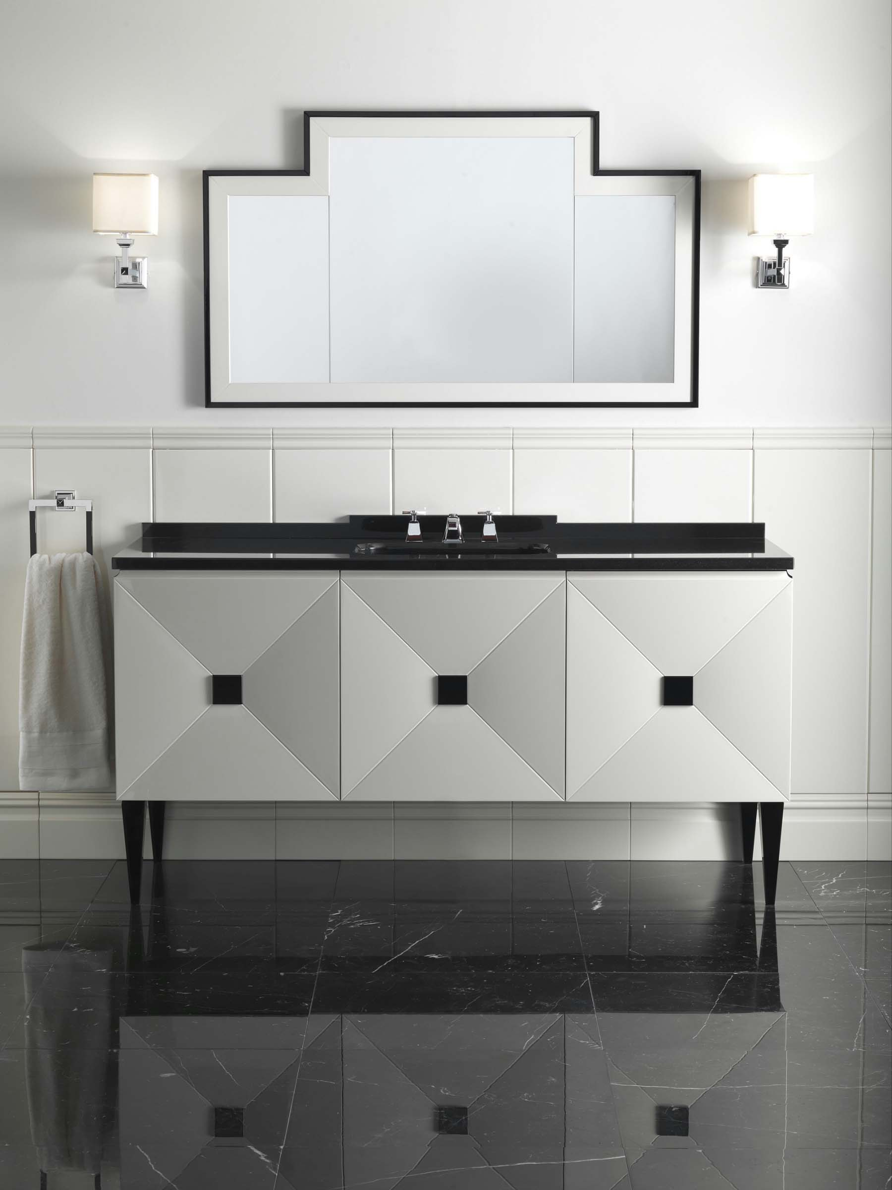 devon & devon black and white contemporary vanity with widespread polished chrome lav faucet - the ultimate guide to luxury plumbing by the delight of design
