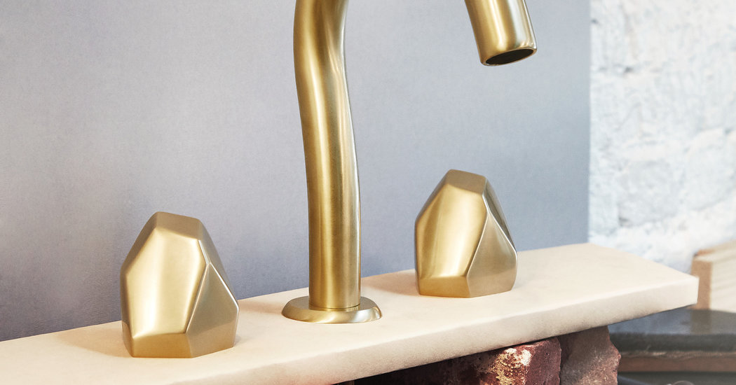 """waterworks isla matte gold 8"""" widespread geode handles faucet - the ultimate guide to luxury plumbing by the delight of design"""