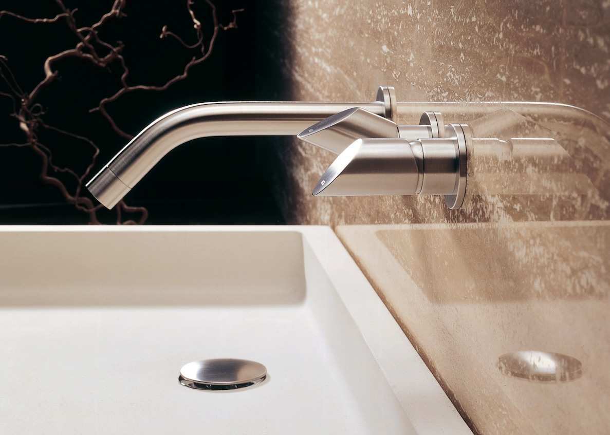 mgs milano contemporary widespread lav faucet with knob handles and 35 degree spout in brushed nickel - the ultimate guide to luxury plumbing by the delight of design