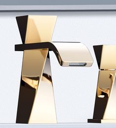 treemme single hole contemporary twisted lav faucet in polished gold with remote valve - the ultimate guide to luxury plumbing by the delight of design
