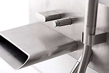 treemme contemporary waterfall wall mount tub filler with diverter and hand shower in polished chrome - the ultimate guide to luxury plumbing by the delight of design