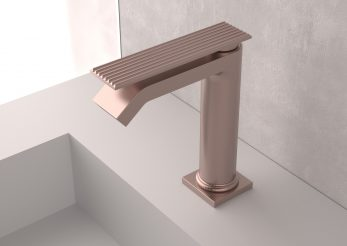 treemme contemporary single hole lav faucet with top lever handle and waterfall spout in brushed rose gold - the ultimate guide to luxury plumbing by the delight of design
