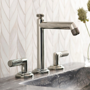 kallista pinna paletta faucet with lever handles and high spout in polished nickel - the ultimate guide to luxury plumbing by the delight of design