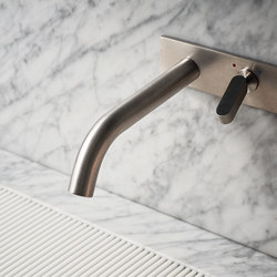 agape contemporary minimalist wall mounted lav faucet with single lever handle and 35 degree spout in brushed nickel - the ultimate guide to luxury plumbing by the delight of design