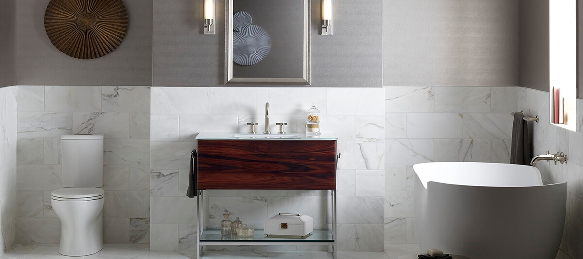 kallista vir stil faucet with cross handles in polished nickel and high spout robern adorn vanity kohler abrazo freestanding tub - the ultimate guide to luxury plumbing by the delight of design