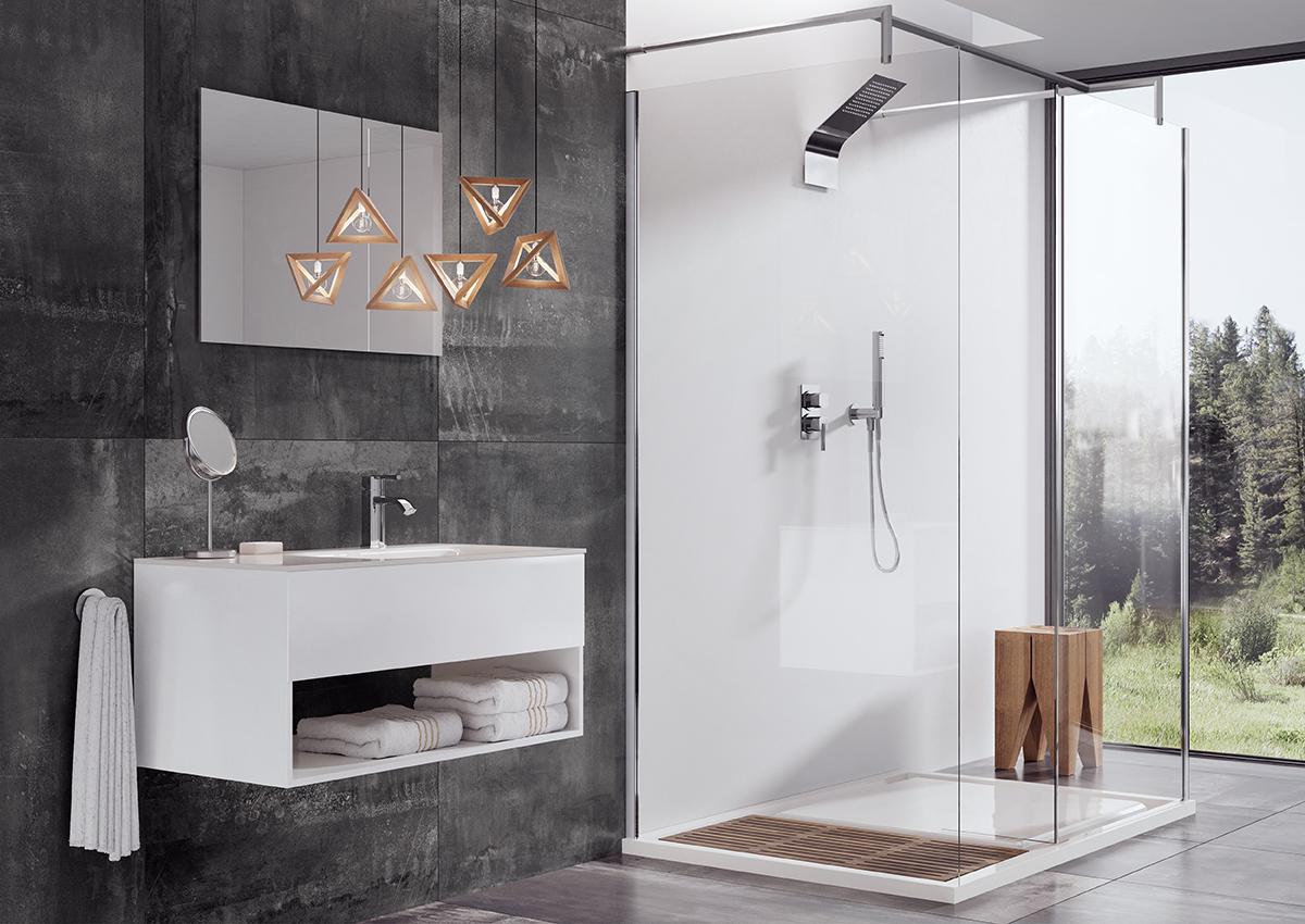webert contemporary square shower trim and single hole lav faucet in polished chrome - the ultimate guide to luxury plumbing by the delight of design