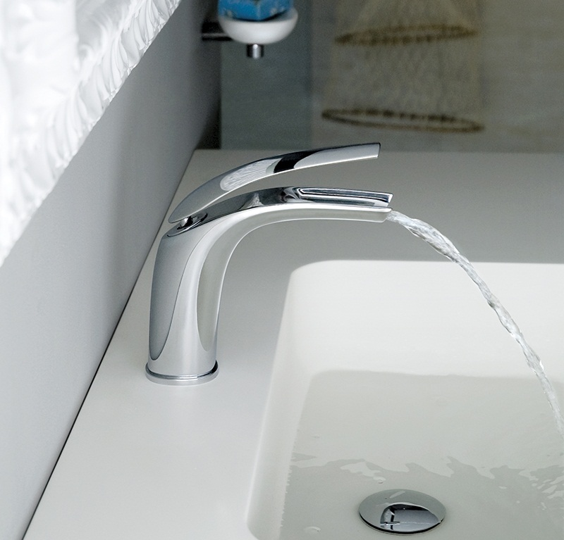 webert contemporary organic single hole lav faucet with top curved lever handle and curved spout in polished chrome - the ultimate guide to luxury plumbing by the delight of design