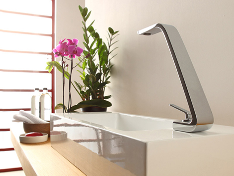 webert contemporary minimalist single hole lav faucet with joystick handle in polished chrome and bent spout - the ultimate guide to luxury plumbing by the delight of design