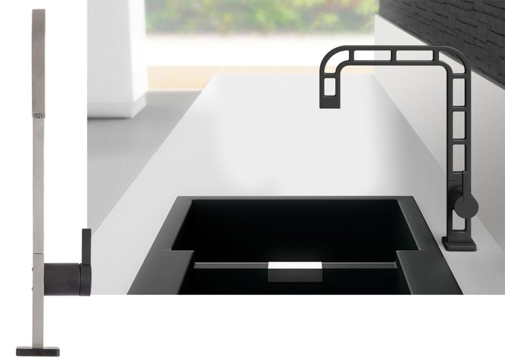 webert contemporary minimalist single hole flat profile cutout kitchen faucet in black with lever handle - the ultimate guide to luxury plumbing by the delight of design