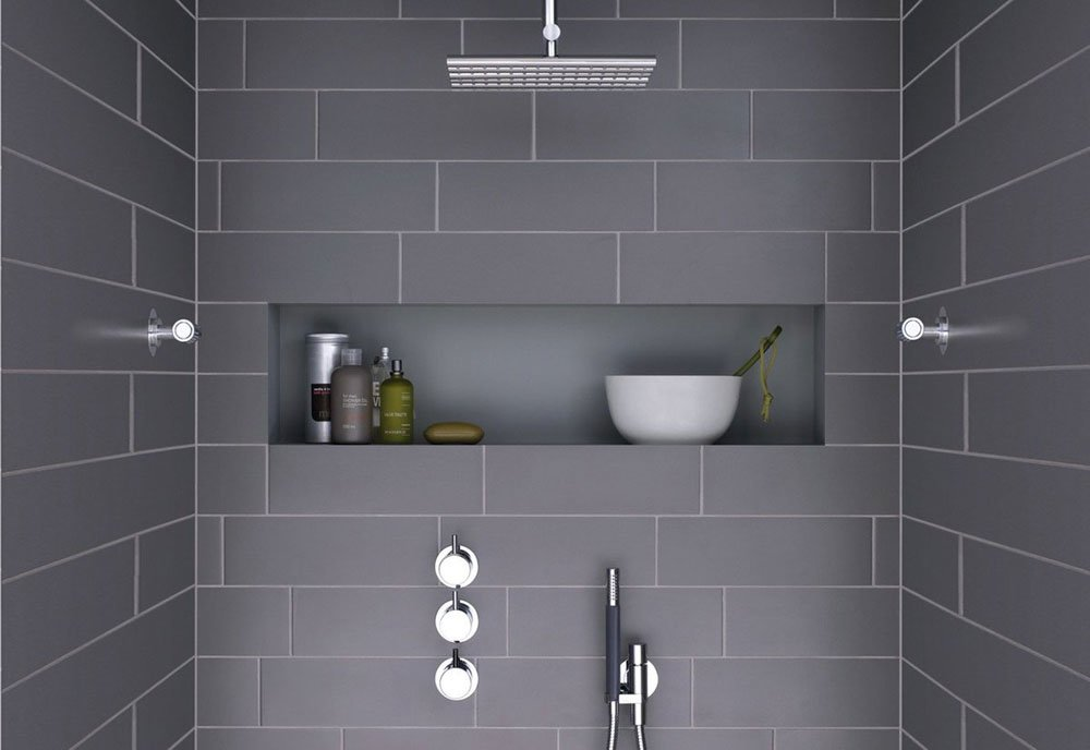vola contemporary minimalist shower trim with handshower and rainhead with lever knobs in polished chrome - the ultimate guide to luxury plumbing by the delight of design