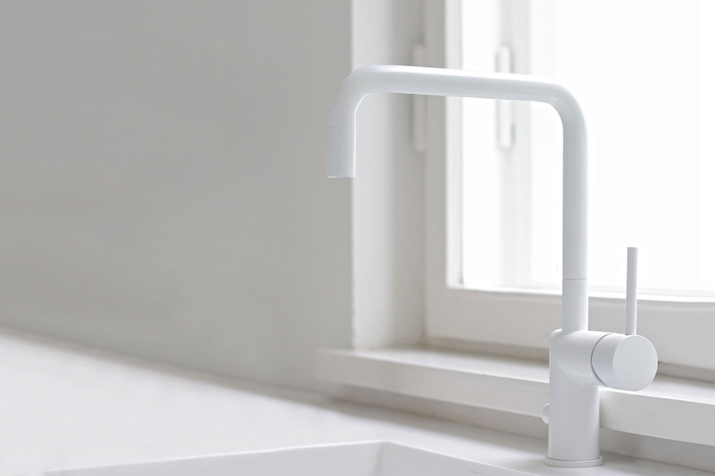 vola contemporary minimalist single hole kitchen faucet with side lever handle and 90 degree spout in white - the ultimate guide to luxury plumbing by the delight of design