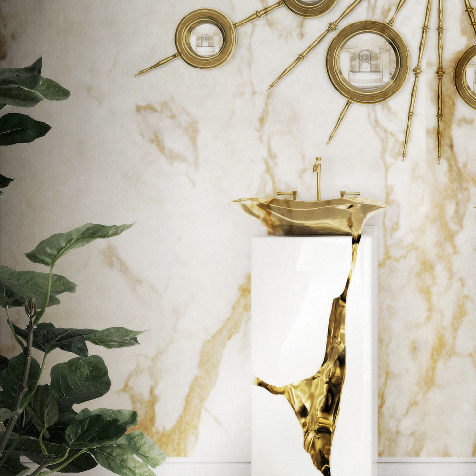 maison valentina contemporary widespread vessel lav faucet with lever handles and 90 degree spout on gold pedestal in gold - the ultimate guide to luxury plumbing by the delight of design