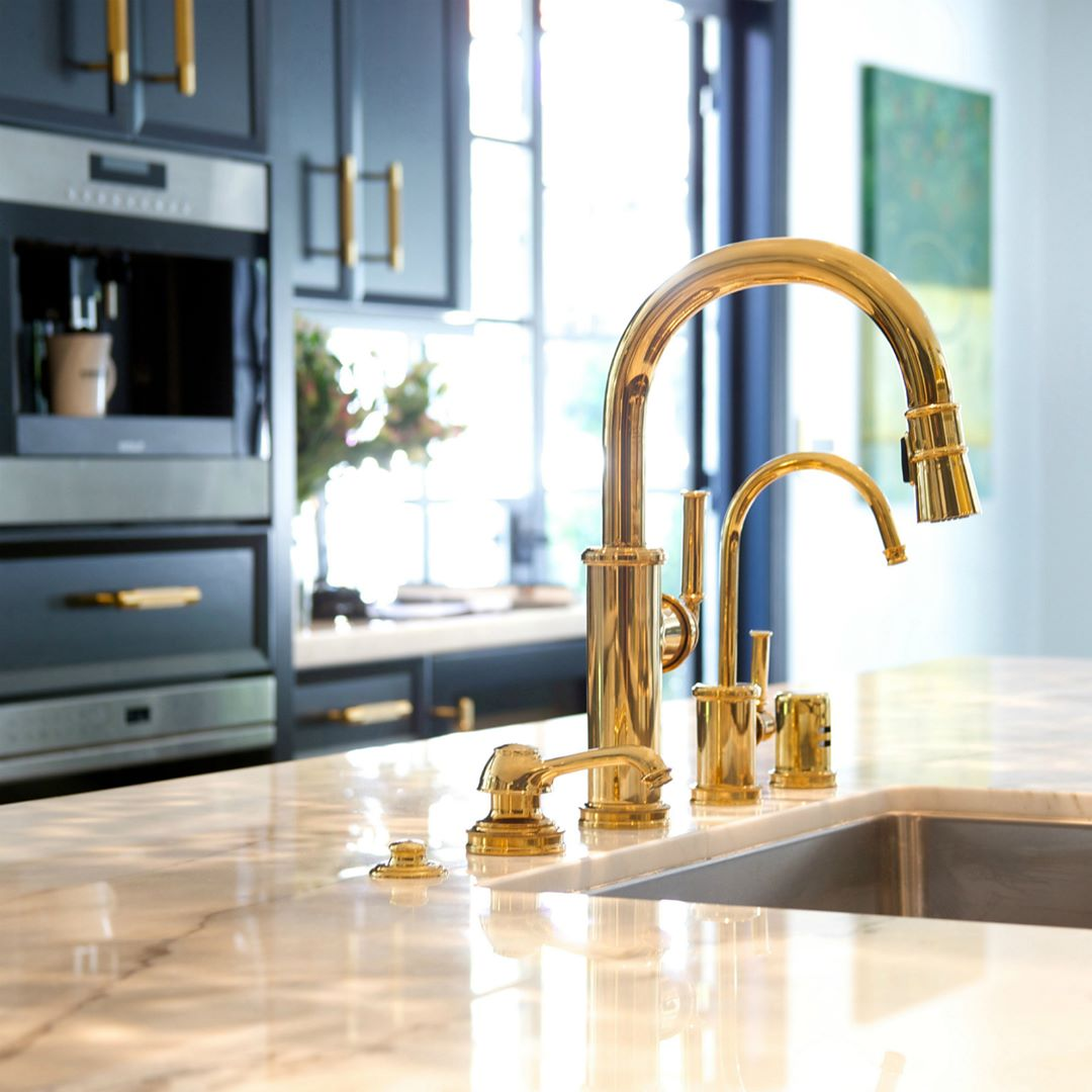 newport brass traditional single hole pulldown kitchen faucet with drinking water dispenser in unlacquered brass - the ultimate guide to luxury plumbing by the delight of design