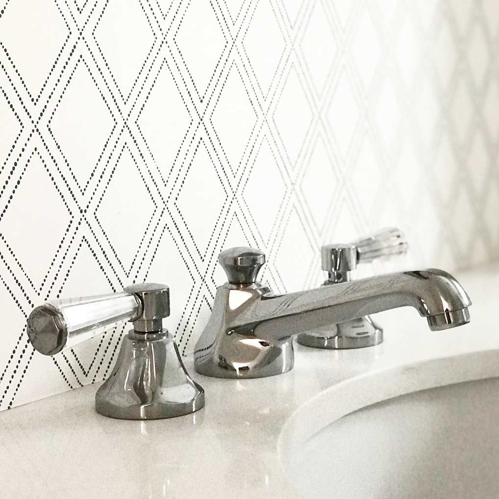 newport brass deco widespread lav faucet with lever handles and short spout in polished nickel - the ultimate guide to luxury plumbing by the delight of design