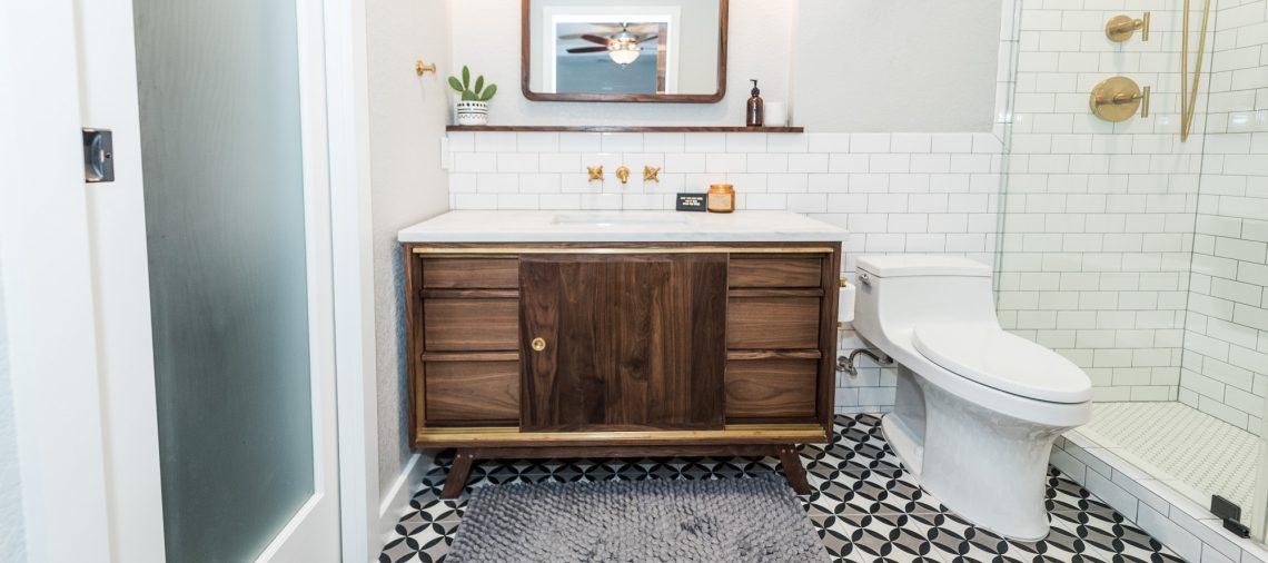 midcentury modern bathroom