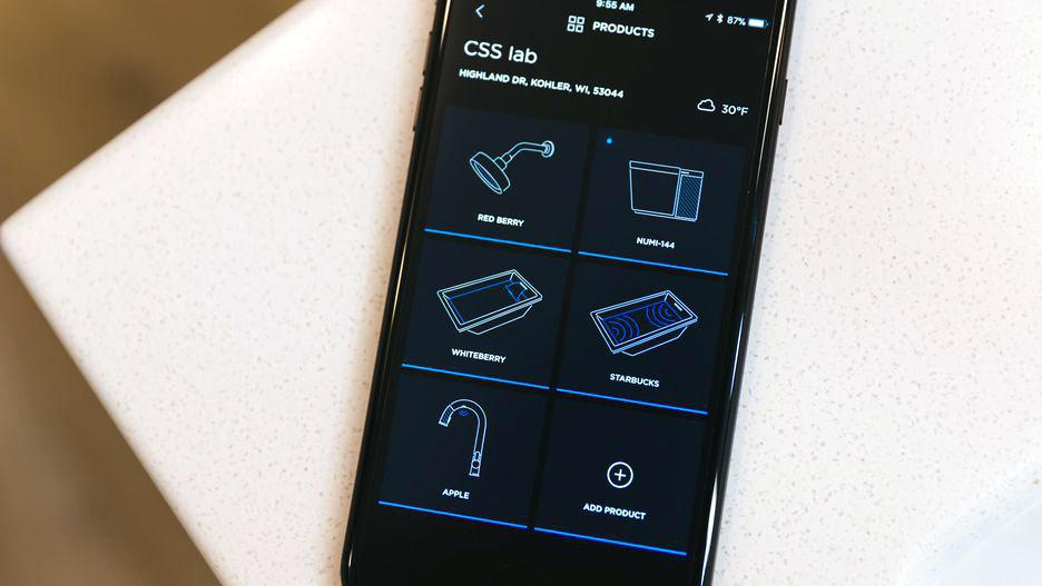 okay but how cool is the kohler konnect dtv+ phone interface #smarthome #smartdesign