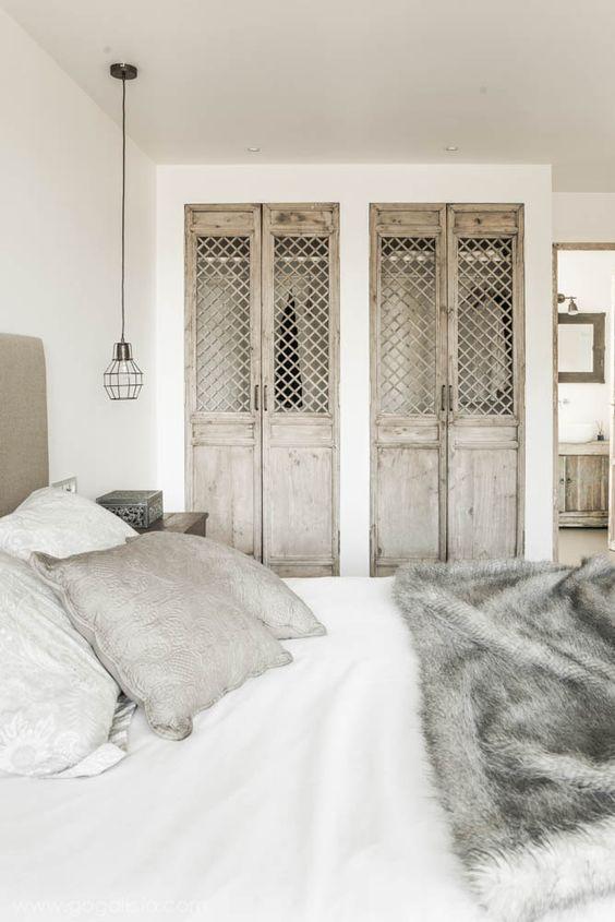 wood closet french doors wood grid panel insert